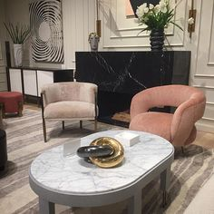 Kelly Wearstler for EJ Victor. Boom. If you haven't seen Auntie Mame (Lillian Russell version) and you are an interior designer or want to be- you need to Netflix immediately and enjoy. She changes her fabulous interiors with each season of her life and this vignette is
