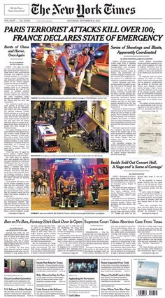 open your eyes my friends...these ARE end times...get right with GOD NOW....NYT about Paris Terror Attacks