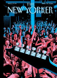 The New Yorker, April 2016 - Johnson takes inspiration from an underground music venue in Bushwick for his cover of this week's issue. The New Yorker, New Yorker Covers, Capas New Yorker, John James, Tamaki, Music Painting, April 25, Magazine Art, Magazine Covers