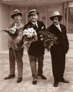 3 Stooges in hats