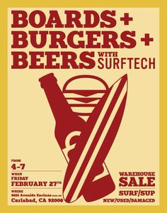 Boards & Burgers Skate Surf, Surfs Up, Burgers, Juice, Surfing, Boards, Sticker, Poster, Art