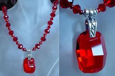 Red Hot Swarovski's Crystal Pendant c/w Sterling by camexinc, $35.00