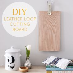 Make a clean and simple cutting board for your kitchen with this great DIY from Design Sponge.