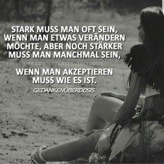 Stark sein...
