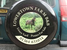 Design of wheel cover featuring one of our broodmares