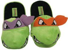 Donatello & Michelangelo Ninja Turtles TMNT Cartoon Adult Plush Mens Slippers Select Shoe Size: 10/11 Teenage Mutant Ninja Turtles,http://www.amazon.com/dp/B00GXHLY90/ref=cm_sw_r_pi_dp_Ay.Msb0RM6QMMDPM