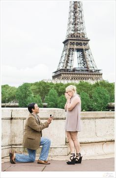 She said yes! Another happy couple get engaged with such a great view! www.catherineohara.com English speaking wedding, elopement, engagement and surprise proposal photographer based in Paris, France