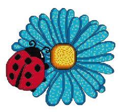Cross stitch pattern Ladybug van HetBorduurbloempje op Etsy
