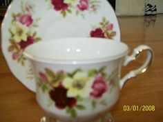 Queen Anne tea cup and saucer pattern no 8501