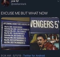 There's nothing wrong with having another avengers movie without the main avengers. They're all avengers and have to continue their work. Funny Marvel Memes, Dc Memes, Marvel Jokes, Avengers Memes, Marvel Dc, Disney Marvel, Marvel Heroes, Marvel Avengers Comics, Funny Memes