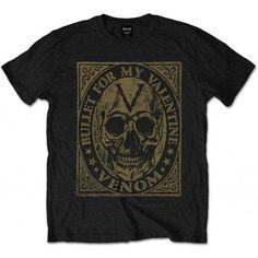 Tricou Bullet For My Valentine: Venom Skull - MetalHead Merch Rock T Shirts, Band Shirts, Funny Tees, Funny Tshirts, Lynyrd Skynyrd T Shirt, Bullet For My Valentine, Presents For Him, Valentine T Shirts, Venom