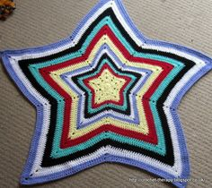 Crochet Therapy: star afghan