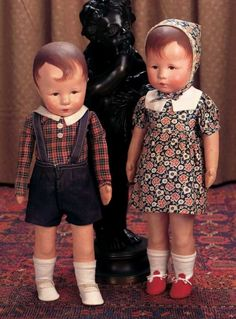 """Keeper of the Dolls : 339 German Cloth Character """"Hampelchen"""" Boy by Kathe Kruse with Original Costume"""