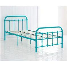 vintage style metal frame single bed aqua kmart