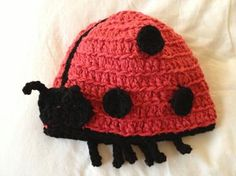 Buglets Ladybug - adapted and improved with such valuable input from our resident ladybug to be so gorgeous! Ladybug, Organic Cotton, Crochet Hats, Winter, Girls, Handmade, Lady Bug, Winter Time, Toddler Girls
