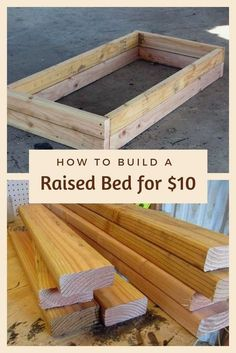 Build one raised bed for $10, using 3 eight foot 2 x 4 's. This is a project you can build in minutes. Are you thinking about adding a garden to the yard this… #gardeningideas