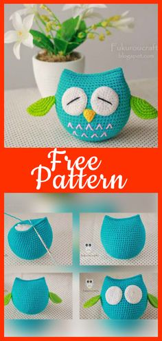 cute owl pattern Owl Crochet Pattern Free, Crochet Blanket Patterns, Amigurumi Patterns, Diy Crochet, Crochet Toys, Owl Blanket, Patron Crochet, Owl Quilts, Felt Owls