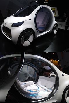 The Smart Vision EQ from Mercedes Benz takes on what a fully autonomous car will look like in 2030, which explains the lack of steering wheel or pedals. Check out New Digital Motorola Two Way Radios for you Business at NURadios.com, and they don't have steering wheels or pedals either.