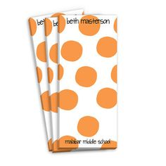 Orange Spots Skinnie Notepads