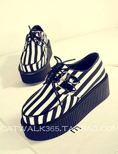 Black and white striped creepers
