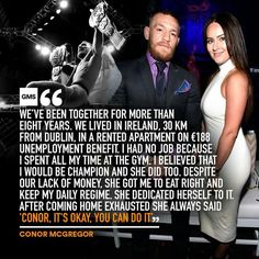 Conor McGregor on girlfriend Dee Devlin