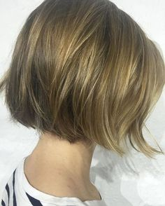 Easy breezy chin-length bobs with gentle texture means you can wash-and-go