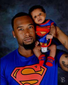 African, superman, aww, black, child, dad, baby, kid, super, cute, father, shirt, outfit, son