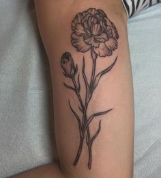 Carnation tattoo Rachel hauer