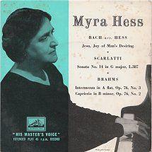 45cat - Myra Hess - Jesu, Joy Of Man's Desiring / Sonata No. 14 In G Major, L.387 - His Master's Voice - UK - 7EG 8281