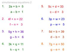 Printables Simultaneous Equations Worksheet differentiated worksheet on simultaneous equations math starting equations