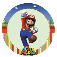 Super Mario Bros Party: Free Printable Candy Bar Labels and Toppers.