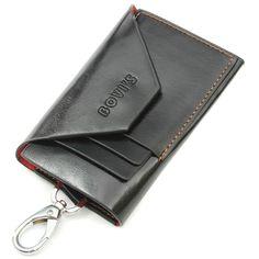 e1c315bc96d Sale 24% (5.99 ) - Women Men PU Leather Key Bag Keychain Credit Card Holder  Key Holder Case Purse