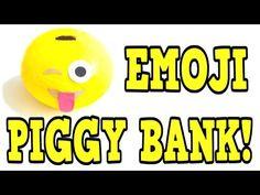 DIY EMOJI PIGGY BANK! #diy #diys #idea #ideas #tutorial #tutorials #video #videos #emoji #emojis #craft #crafts #youtube #youtuber #youtubers #project #projects #piggybank #coinbank