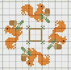 15 Sided Biscornu Freebie Patterns | Cross stitch - Biscornu... no color chart available, just use the pattern chart as your color guide.. or choose your own colors...