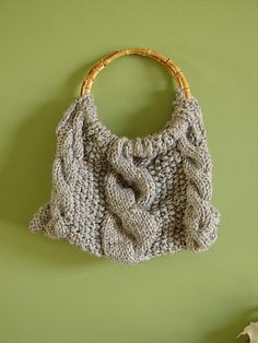 Ravelry: Large Cable Knit Purse pattern by Cortney Young