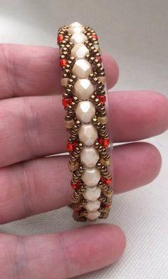 Beaded Flat Spiral Bracelet by BeBoDesigns on Etsy