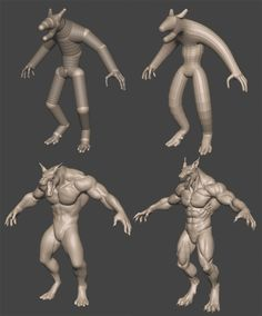 Create a terrifying werewolf in ZBrush and 3ds Max