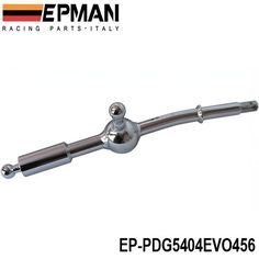 PQYRACING Adjustable Height Dual Bend Stainless Steel Short Shifter Compatible for Honda Civic B&D