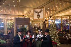 Olde Towne Carolers singing at the Blue Cross River Rink in Philadelphia #OldeTowneCarolers #Victorian Carolers