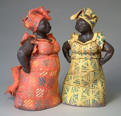 Big Mamas Description: Ceramic Sculpture Artist: Ann… in 2019 African American Figurines, African American Dolls, Art Sculpture, Sculptures, Ceramic Pottery, Ceramic Art, Afrique Art, Plus Size Art, African Dolls