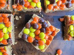 Peanut Butter Reese's Pieces Blondies