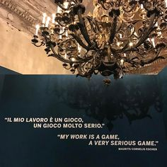 Monday Inspiration: My work is a game, a very serious game. – M. C. Escher