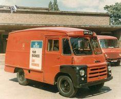 Austin or Morris LD van in Royal Mail livery, c/w rubber front wings Vintage Vans, Vintage Trucks, Old Trucks, Fire Trucks, Truck Bed Camping, Truck Tailgate, Kenworth Trucks, Toyota Trucks, Classic Trucks