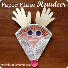 Christmas reindeer crafts | Christmas Kids Craft: Paper Plate Reindeer