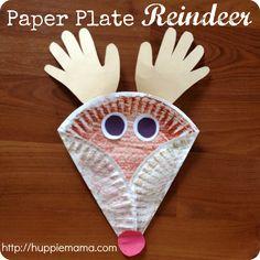 Christmas reindeer crafts   Christmas Kids Craft: Paper Plate Reindeer