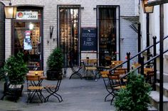 """All-jazz specialty record store and café in a delightful little back yard in the centre of Oslo. Bare Jazz (=""""Only Jazz"""") is also a place to hear good jazz music, sometimes live. Cool Jazz, Food Places, Jazz Music, Oslo, Restaurant Design, Backyard, Bar, Centre, Coffee"""