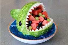 Carve your own watermelon shark! Step by step instructions by mikeasaurus on Instructables.com