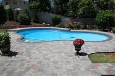 Pavers for pool decks is an excellent choice. Never slippery, and always looks good, from ModernPaving.com