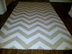 Chevron pattern rug.  Woven area rug in a Modern and Classy Cloud by HouseofHenderson, $85.95