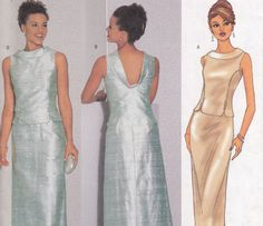 Perfect mother of the bride dress sewing pattern seperates Butterick 6466 Sizes 12 14 16 bust 34 36 38 uncut. $8.00, via Etsy.